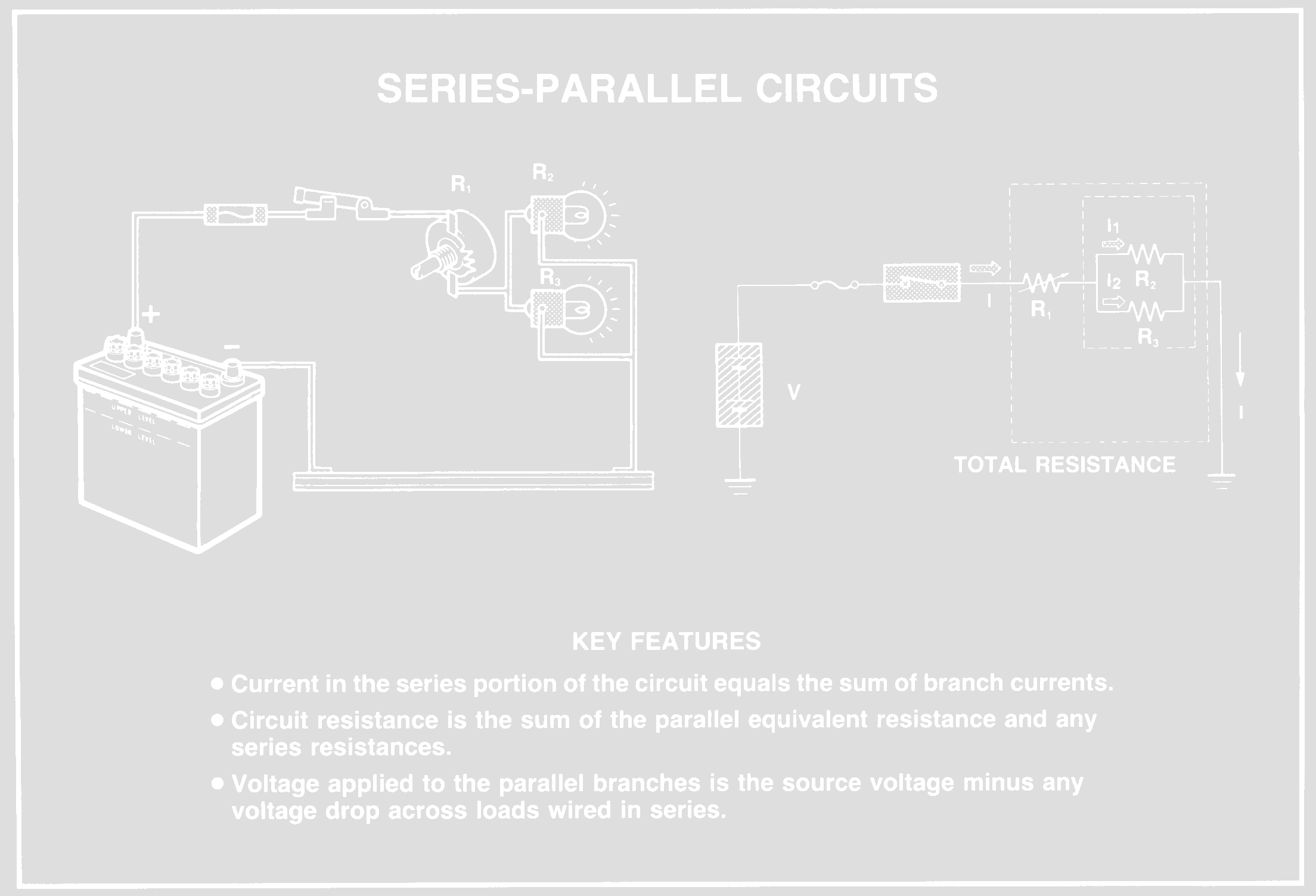 Electrical Circuits Listenlights What Are Series And Parallel In A Circuit Current Flows Through The Portion Of Then Splits To Flow Branches